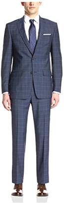 Franklin Tailored Men's Dot/Window Paine Suit