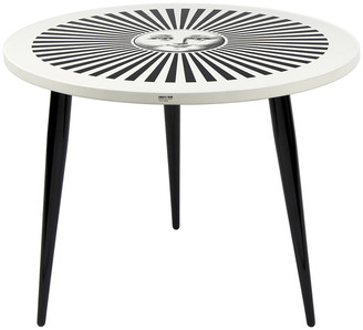 Fornasetti Sole Raggiante Table with Wooden Legs - 60cm Dia