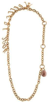 Saint Laurent Belle de Jour Agate Charm Necklace
