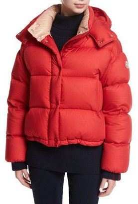 Moncler Paeonia Quilted Puffer Jacket, Red $1,590 thestylecure.com