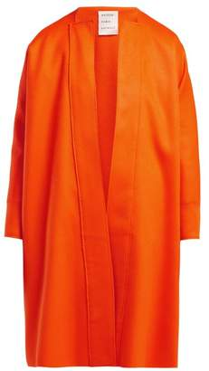Maison Rabih Kayrouz No Lapel Wool Coat - Womens - Orange