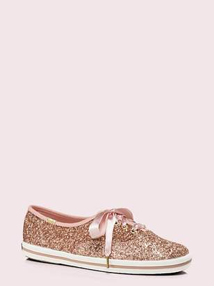 Kate Spade Keds X Glitter Sneakers, Rose Gold - Size 6