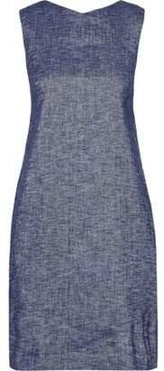 Theory Linen-Blend Chambray Mini Dress