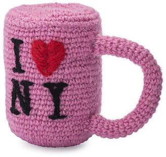 Lovethybeast I Love NY Knit Dog Toy - Pink - LoveThyBeast