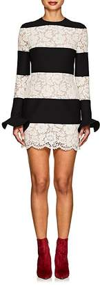 Valentino Women's Crepe & Lace Fitted Minidress