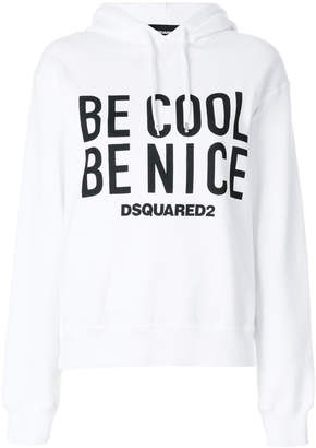 Be Cool slogan hoodie