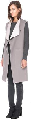 Soia & Kyo LINN-RV reversible double-face wool vest