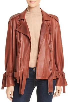 Kenneth Cole Trapunto Leather Jacket