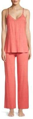 Natori Two-Piece Lace Trimmed Pajama Set