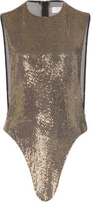 Tre by Natalie Ratabesi The Titanium Lurex Bodysuit Size: 2
