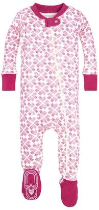 Burt's Bees Stitched with Love Organic Baby Zip Up Footed Pajamas