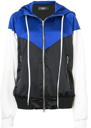 Amiri colourblock zip-up windbreaker jacket