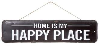 Darice Home Is My Happy Place Rustic Sign: Black/White, 22 x 5.13in