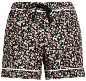 Moncler (モンクレール) - Moncler Grosgrain-Trimmed Floral-Print Silk-Twill Shorts