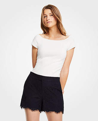 Ann Taylor High Waisted Lace Shorts