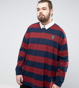 Loyalty And Faith PLUS Bold Stripe Rugby Shirt