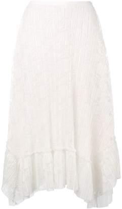 See by Chloe biased midi skirt