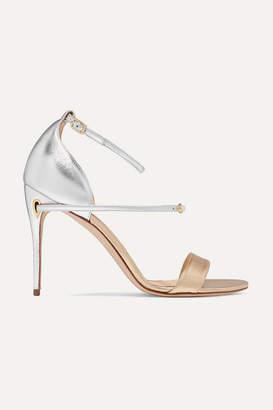 Jennifer Chamandi - Rolando Two-tone Metallic Leather Sandals - Gold
