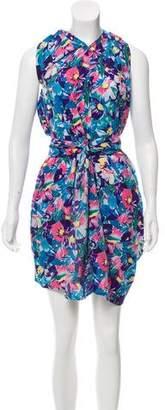 Acne Studios Belted Floral Dress