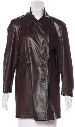Henri Bendel Vintage Leather Coat