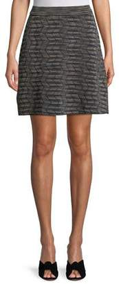 M Missoni Space-Dyed A-Line Knit Skirt