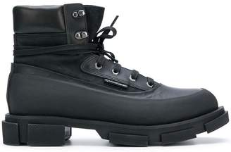 Both lug sole ankle boots