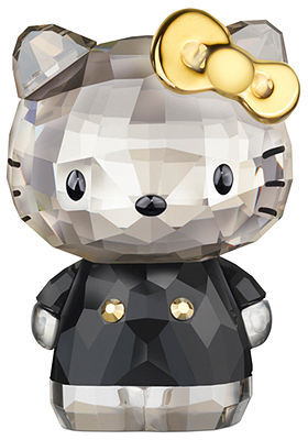 Swarovski Collectible Figurine, Hello Kitty Gold Bow - Retired in 2013