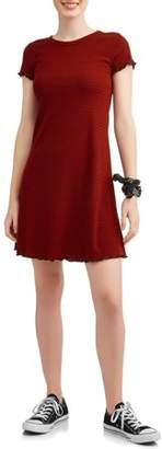 Almost Famous Juniors' Cap Sleeve A-Line Dress