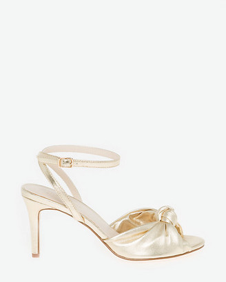 Le Château Metallic Leather-Like Ankle Strap Sandal