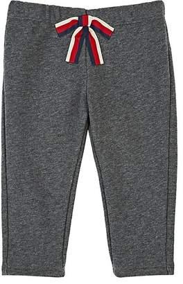 Gucci Infants' Bow-Appliquéd Cotton Terry Pants
