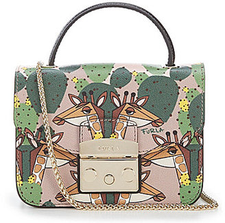 Furla Metropolis Giraffe & Cactus-Print Top-Handle Mini Cross-Body Bag $398 thestylecure.com