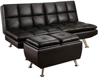 Abbyson Living Brandon Bonded Leather Sofa Bed And Ottoman Set