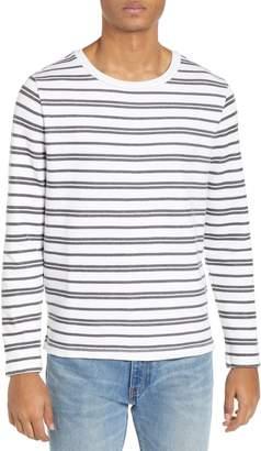 Club Monaco Trim Fit Variegated Stripe Crewneck Sweater