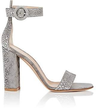 Gianvito Rossi Women's Portofino Studded Suede Sandals - Fumo