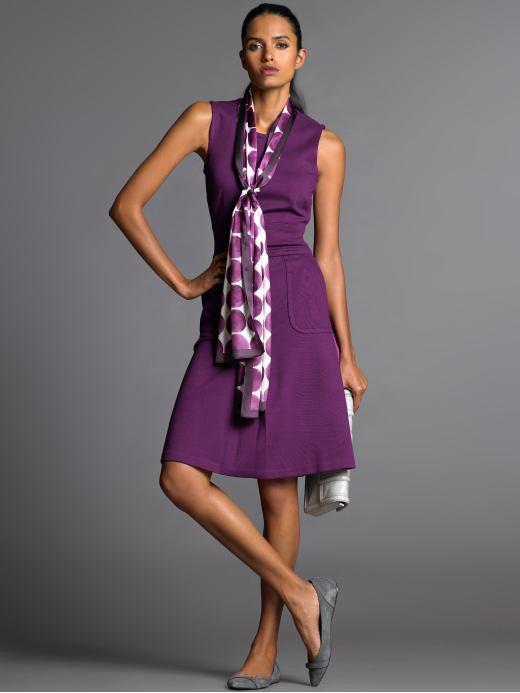 Sleeveless knit sheath dress