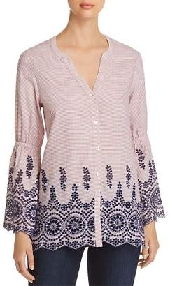 Nic+Zoe Ciao Bella Embroidered Shirt