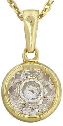 Effy Exquisite 14K Yellow Gold 0.70ct Diamond Ladies Pendant Necklace