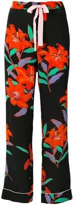Diane von Furstenberg printed palazzo trousers