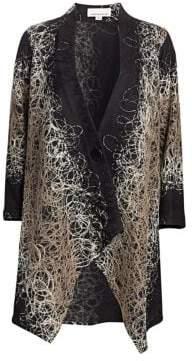 Caroline Rose Mix It Up Embroidered Cardigan