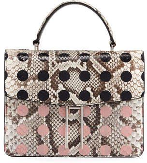 Hayward Top-Handle Dotted Python Bag
