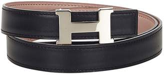 Hermes H leather belt