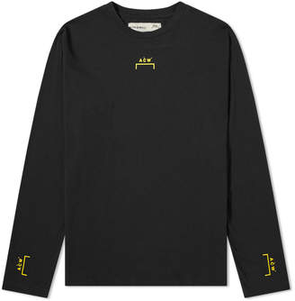 A-Cold-Wall* A Cold Wall* Long Sleeve Bracket Logo Tee