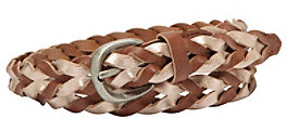 Fossil Rose Gold Colorblock Woven Belt