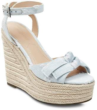KENDALL + KYLIE Women's Gwenn2 Denim Espadrille Platform Wedge Sandals
