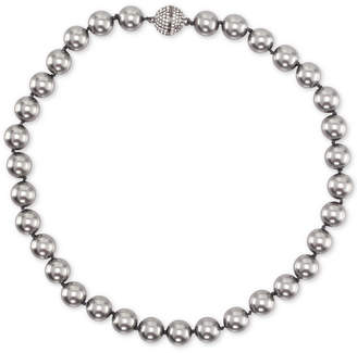 """Nina Gold-Tone Swarovski Ball & Colored Pearl 17"""" Magnetic Collar Necklace, Created for Macy's"""