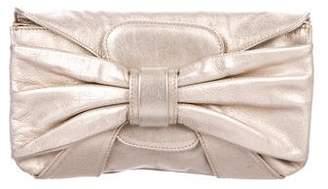 Valentino Metallic Leather Clutch