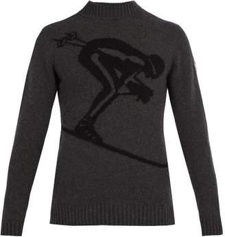 Fusalp - Skieur Ski Jacquard Wool Blend Sweater - Mens - Dark Grey