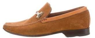 a. testoni a.testoni Suede Square-Toe Loafers