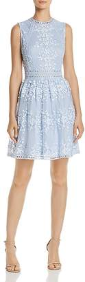 Aqua Vine Embroidered Dress - 100% Exclusive