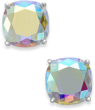 Kate Spade Silver-Tone Faceted Abalone Square Stud Earrings
